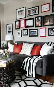 black and red furniture. diy budget gallery wall update valentines red black and furniture