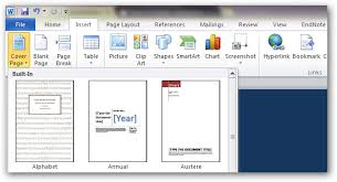 Word 2013 Custom Templates How To Create Custom Cover Pages In Microsoft Word 2010 Insert Cover