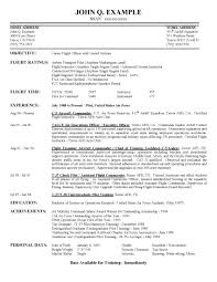 Pilot Resume Sample Airline Pilot Hiring Example Resume 1