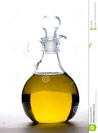 a cruet of olive oil stock photo  image