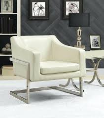modern white accent chair contemporary christopher knight home round bonded leather