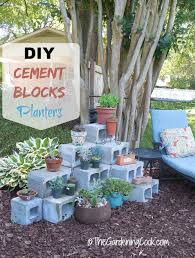 this diy cement blocks plant shelf is easy to make and is a great way to