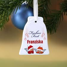 Keramikweihnachtsglocke Engel Mit Namensaufdruck