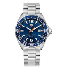 mens sports watches the watch gallery tag heuer formula 1 quartz stainless steel blue dial mens watch waz1010 ba0842