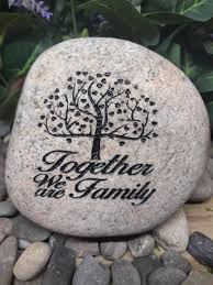 custom made together we are family hope inspirational stones garden rocks custom order