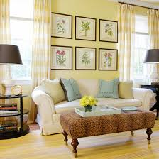 Yellow living room furniture Yellow Couch Buttercream Walls Better Homes And Gardens Decorating Ideas For Yellow Living Room