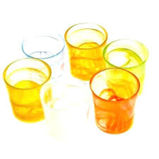 drinking glasses image 0 italian coloured