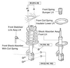 replace front struts on toyota sienna 2004 2010 share your repair 2004 toyota sienna front strut assembly diagram