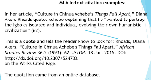 Mla Format For Intext Citations Mla Style Citation Styles Libguides At Cossatot