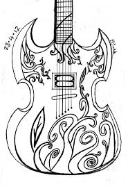 3285x4826 big guitar outline drawing collection 70