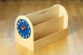 kids book holder tidy books box natural reading children storage wood bathrooms with grey subway tiles