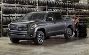 2018 toyota with manual transmission. plain with 2018 toyota tundra gets a mild facelift and trd sport version chicago  auto show  the fast lane truck in toyota with manual transmission