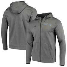 Ucla Armour Heathered Performance Under Hoodie - Charcoal Full-zip School Bruins Logo