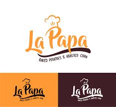 Papa Design Playful Modern Food Service Logo Design For La Papa Baked