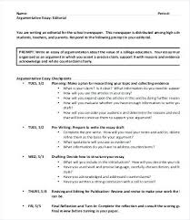 Example Of Argument Essays Example Argumentative Essays Resume Ideas