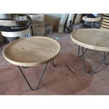 handmade wooden tray coffee table on