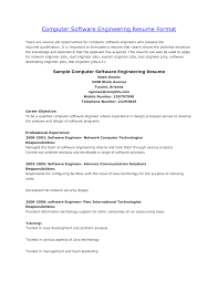 Cv Samples For Engineering Students Sample Curriculum Vitae Computer Engineer Software Engineer Cv Example