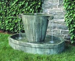 concrete anfora fountain