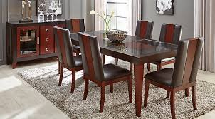 top dining room table and chairs sofia vergara savona chocolate 5 pc rectangle dining room hwigdiz