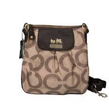 Coach Logo C Monogram Small Khaki Crossbody Bags EQI