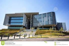 Glass exterior modern office Glass Doors Johannesburg South Africa 22 August 2018 Modern Office Building With Concrete And Glass Exterior Dreamstimecom Modern Office Building With Concrete And Glass Exterior Editorial