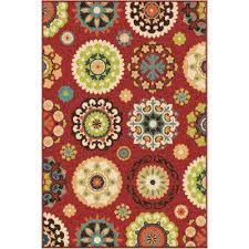 dream island red 5 ft x 8 ft indoor outdoor area rug