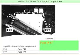 2000 740il fuel pump fuse the fuse box located in the trunk diagram graphic