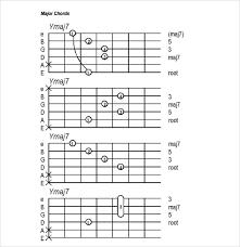 Printable Guitar Chords Chart Pdf Sample Guitar Chord Chart 6 Documents In Pdf