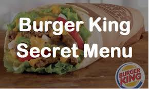 burger king secret menu 2017 menu