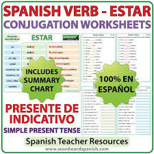 Ser Vs Estar Chart Estar Spanish Verb Conjugation Worksheets Present Tense