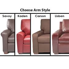 Fabric & Leather Options Arm Styles