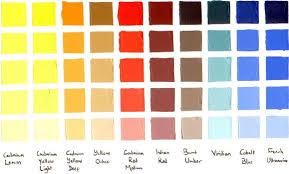 Colour Charts Plus W N Griffin Alkyd Sennelier Oils