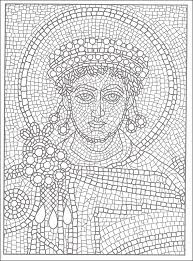 Mosaic Coloring Pages Free Page Traditional Islamic