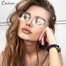 Clear Lens <b>Round</b> Glasses Women 2019 <b>New Vintage Metal</b> ...