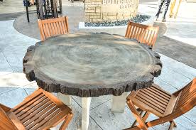 interior concrete top round dining table outdoor bar sealer coffee weight concrete table top