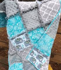 Best 25+ Crib quilts ideas on Pinterest | Baby quilt patterns ... & Handmade Large Elephants Flannel and Minky Rag Baby or Crib Quilt in Aqua,  Gray and Adamdwight.com