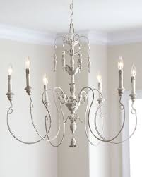 chandelier astounding white distressed auvergne french country