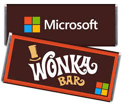 Chocolates Wrappers Willy Wonka Inspired Promotional Candy Bar Wrappers