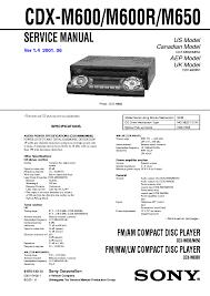 sony xr c440 c450 ver 1 1 sm service manual sony