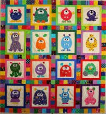 Mini Monster Quilt Pattern by mizpats on Etsy | Quilt Patterns ... & cute! monsters kid quilt, from the silly goose quilts blog Adamdwight.com