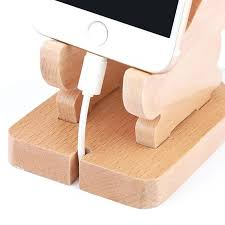 wood phone stands