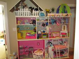American Girl Doll house, made from Ikea bookshelfs.