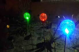 decorative solar lighting. The Sogrand Crackle Glass Globe Stake, Deal Of Day, 3 Color LED Solar Lights Are Some Most Beautiful I Have Seen. Decorative Lighting A
