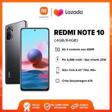 Giá bán   Điện thoại Xiaomi Redmi Note 10 (4GB/64GB) - Hàng chính hãng DGW  - Bảo hành 18 tháng - Trả góp 0%