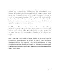 Project Proposal Sample On Warehouse Management System Page 6 7 ...