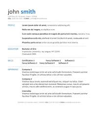 Resume Templates For Word 20 Standard Template - Resume Template ...