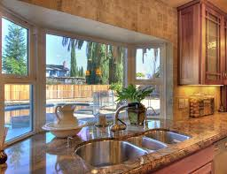 kitchen bay window over sink. Delighful Window Implausible Kitchen Bay Window Extravagant Design With Curtain Over Sink  Decorating Andersen Above Picture Image Home Depot Inside R
