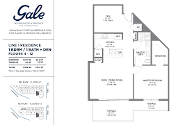 Bathroom Floor Plan The Gale Line 1 Floor Plan 1 Bed 1 Bath Floors 4 12