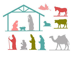 nativity silhouette printable. 810 Full Nativity Printable Inside Silhouette