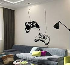 Funny Wall Decal Sticker Joysticks Video Game <b>Play Room</b> Gaming ...